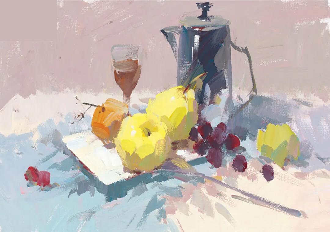 色彩静物不锈钢总是画不好?广州画室分享绘画技巧!