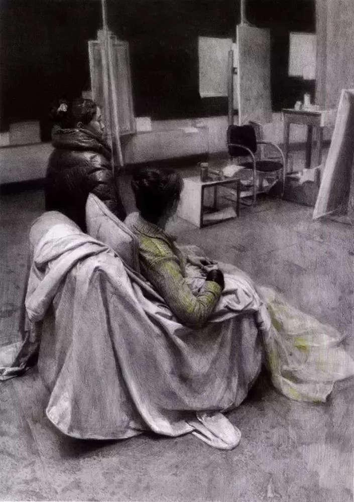 素描作品不会深入?广州画室排名前五画室带你看央美作品怎么画,37