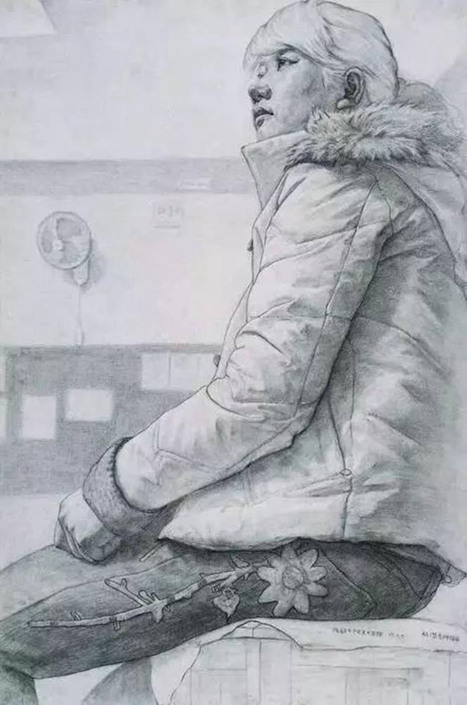 素描作品不会深入?广州画室排名前五画室带你看央美作品怎么画,33