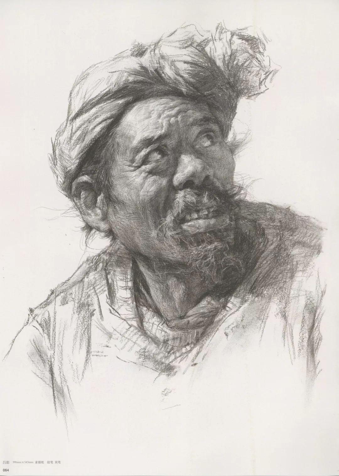 画老人素描头像就犯怂,掌握了广州十大画室整理的这两点就不怂了,11