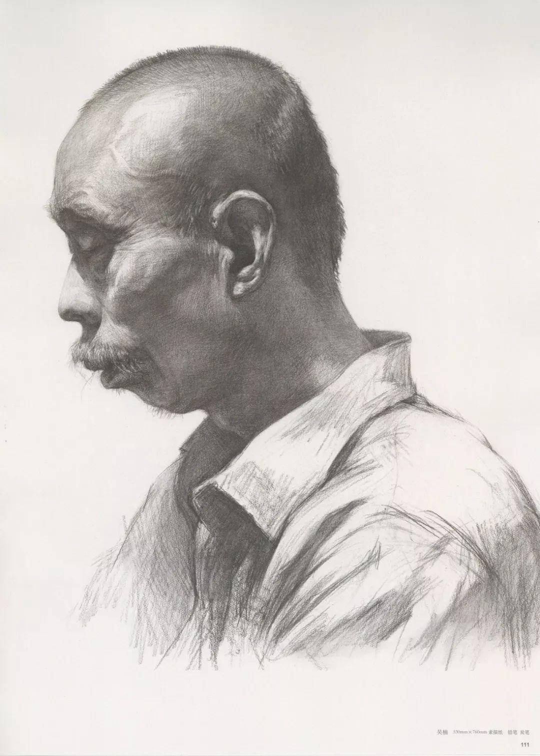 画老人素描头像就犯怂,掌握了广州十大画室整理的这两点就不怂了,25