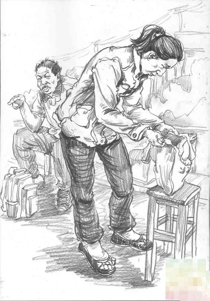 今天广州十大画室老师送你近两年广东模考速写高分卷,20
