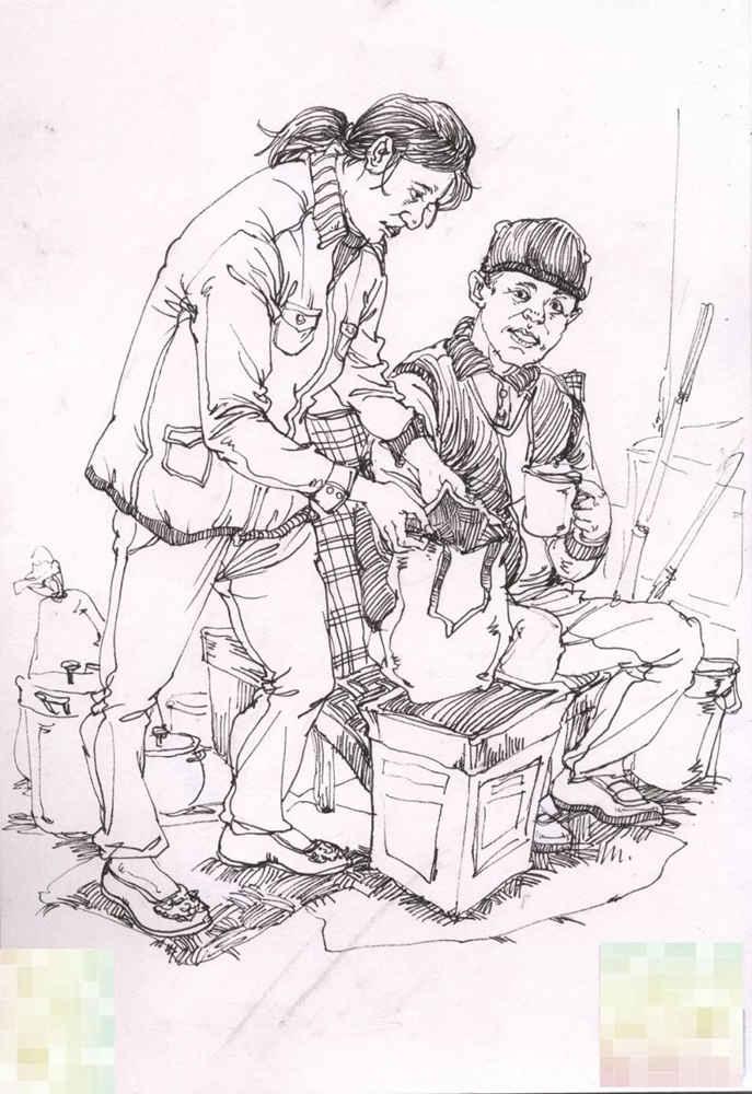 今天广州十大画室老师送你近两年广东模考速写高分卷,27