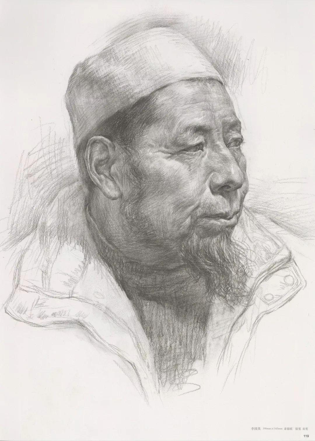 画老人素描头像就犯怂,掌握了广州十大画室整理的这两点就不怂了,28