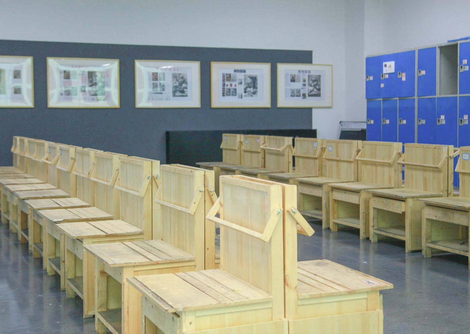 广州画室课室,广州美术培训班课室,广州围墙画室课室