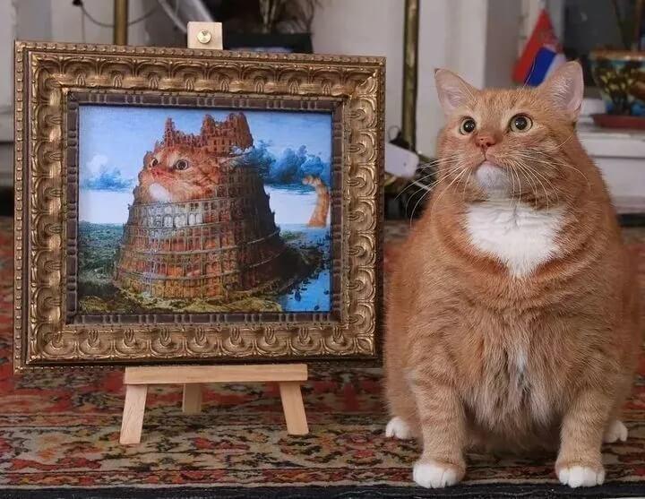 """这只""""糟践""""了各大世界名画的橘猫,为何能如此为所欲为?"""