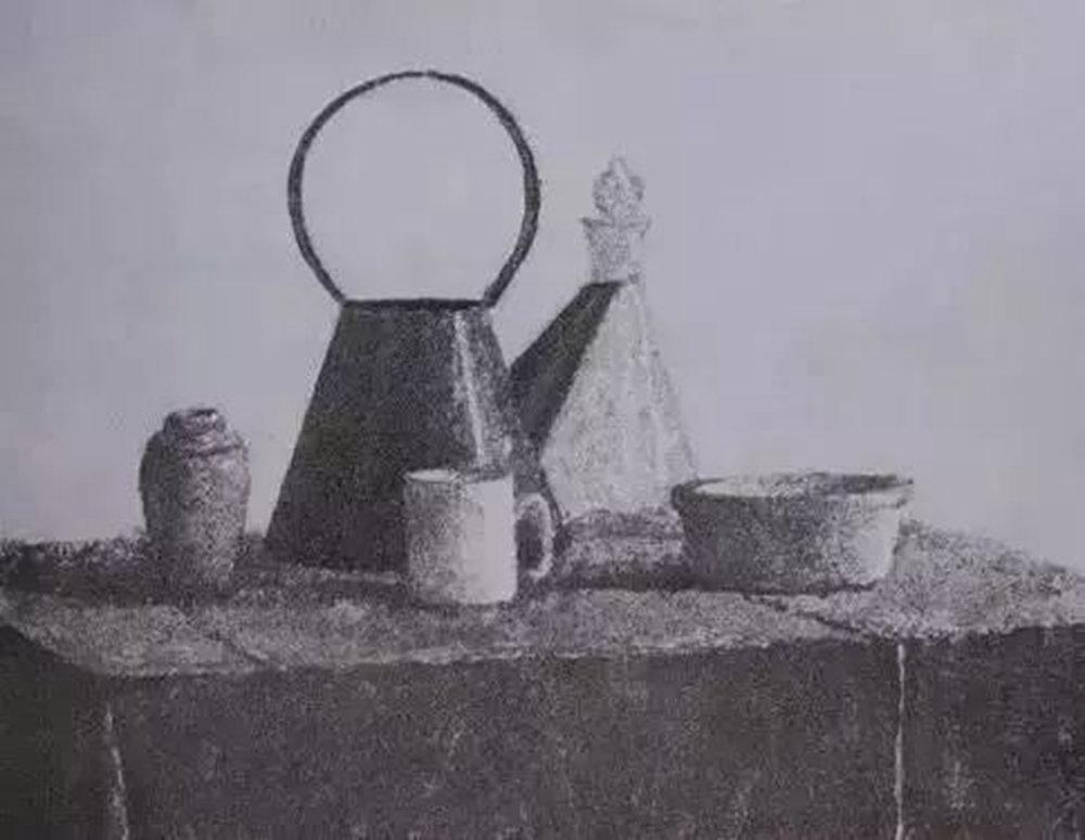素描作品不会深入?广州画室排名前五画室带你看央美作品怎么画,14