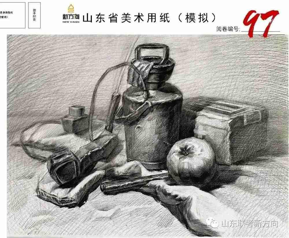 广州十大画室将各省一模素描卷放一起大pk,你找找都有哪些共同特征,42