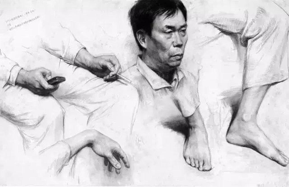 素描作品不会深入?广州画室排名前五画室带你看央美作品怎么画,47