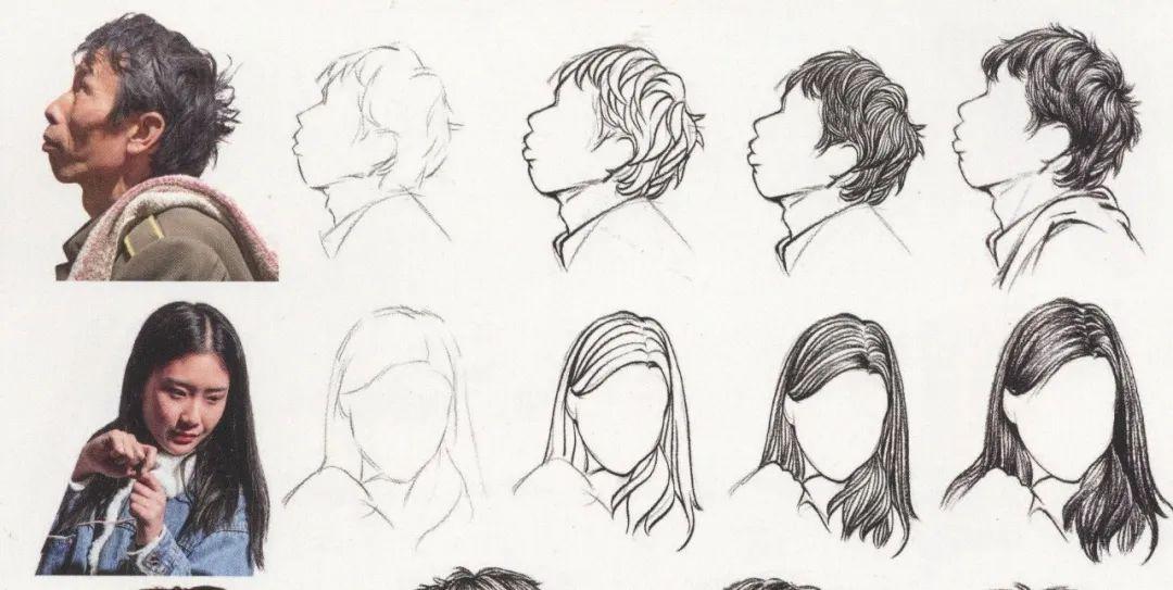 广州画室排名前五画室干货丨速写头发如何画,这份步骤大概最完整,03