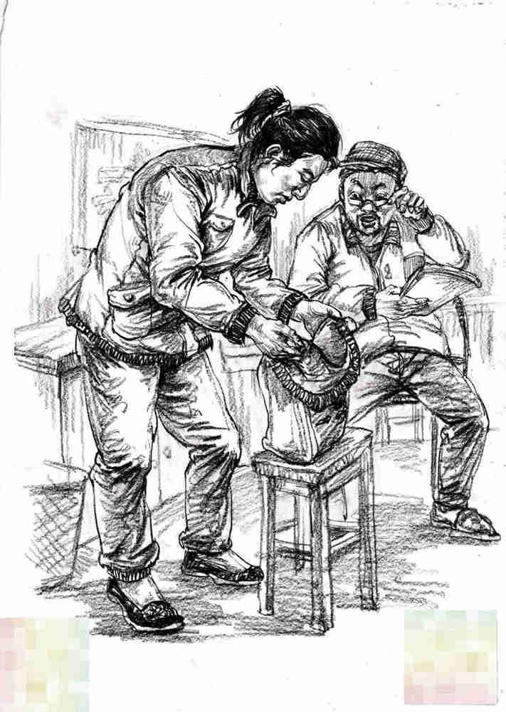 今天广州十大画室老师送你近两年广东模考速写高分卷,33