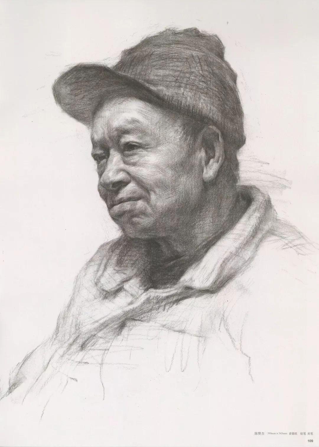 画老人素描头像就犯怂,掌握了广州十大画室整理的这两点就不怂了,24