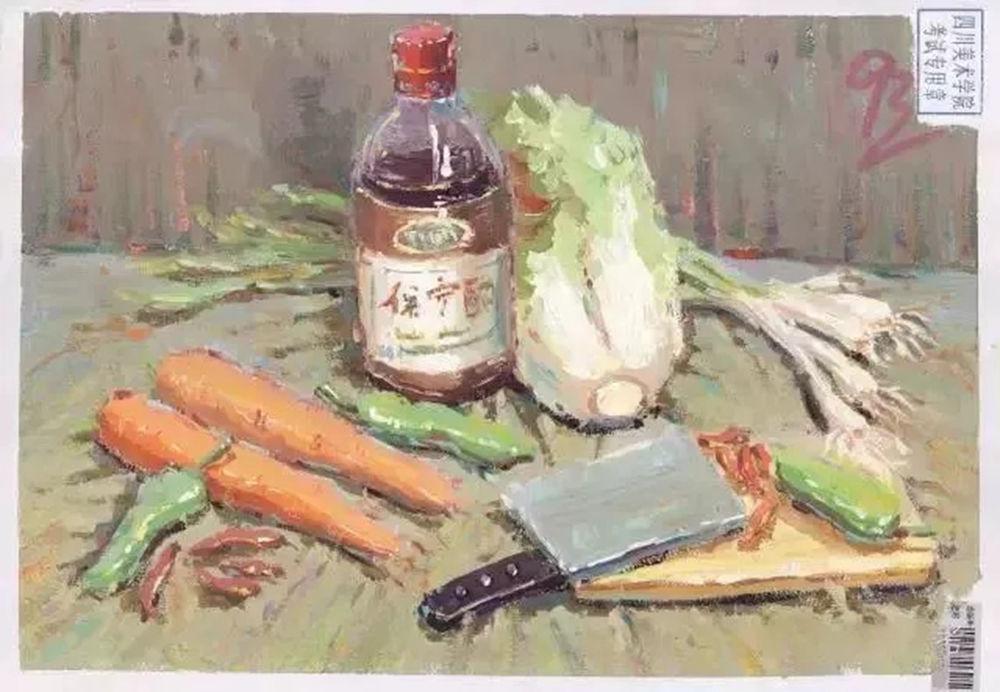 四川美术学院校考高分卷(素描、色彩、速写)|广州画室建议收藏
