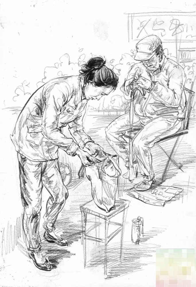 今天广州十大画室老师送你近两年广东模考速写高分卷,30