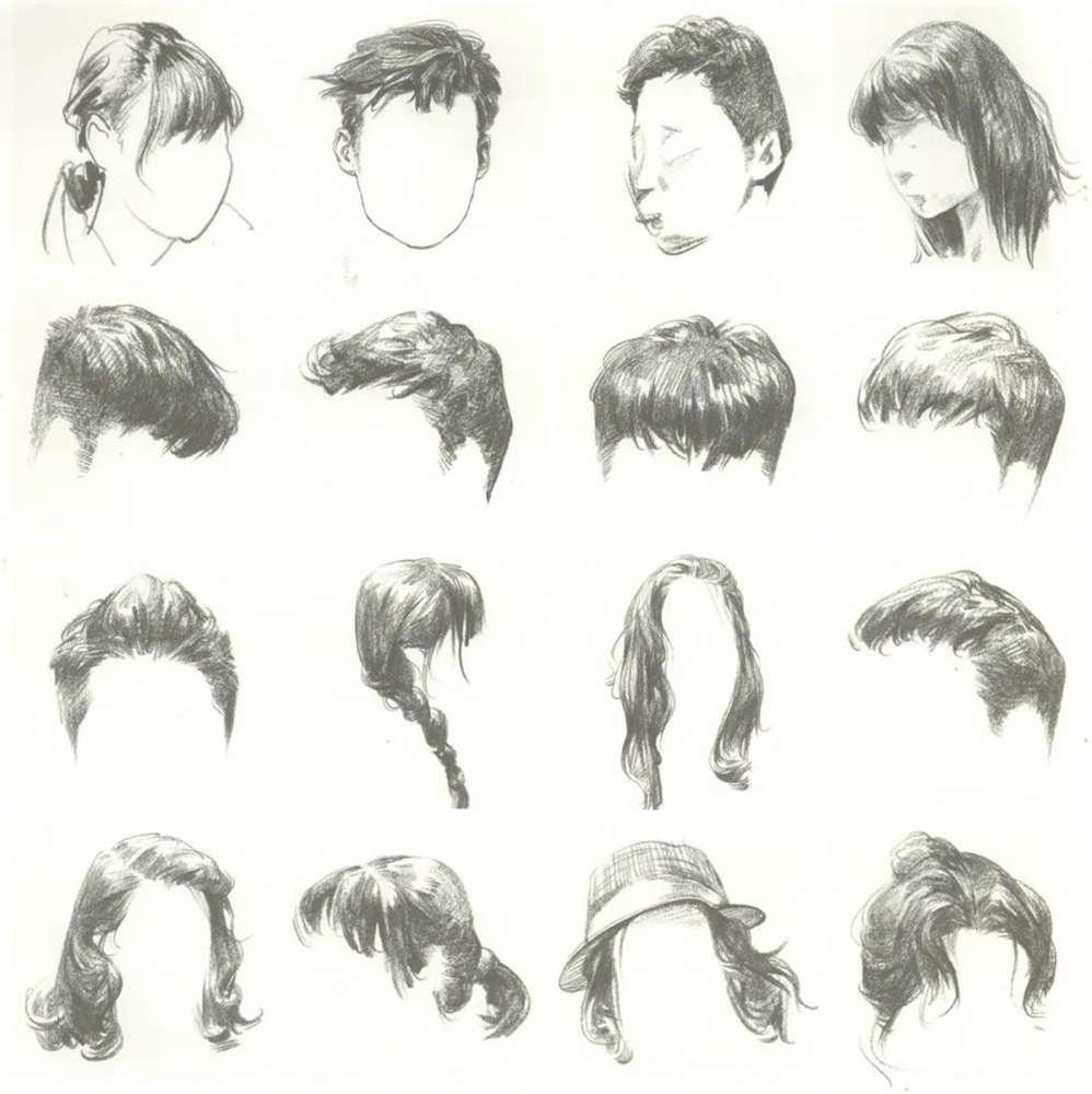 广州画室排名前五画室干货丨速写头发如何画,这份步骤大概最完整,05