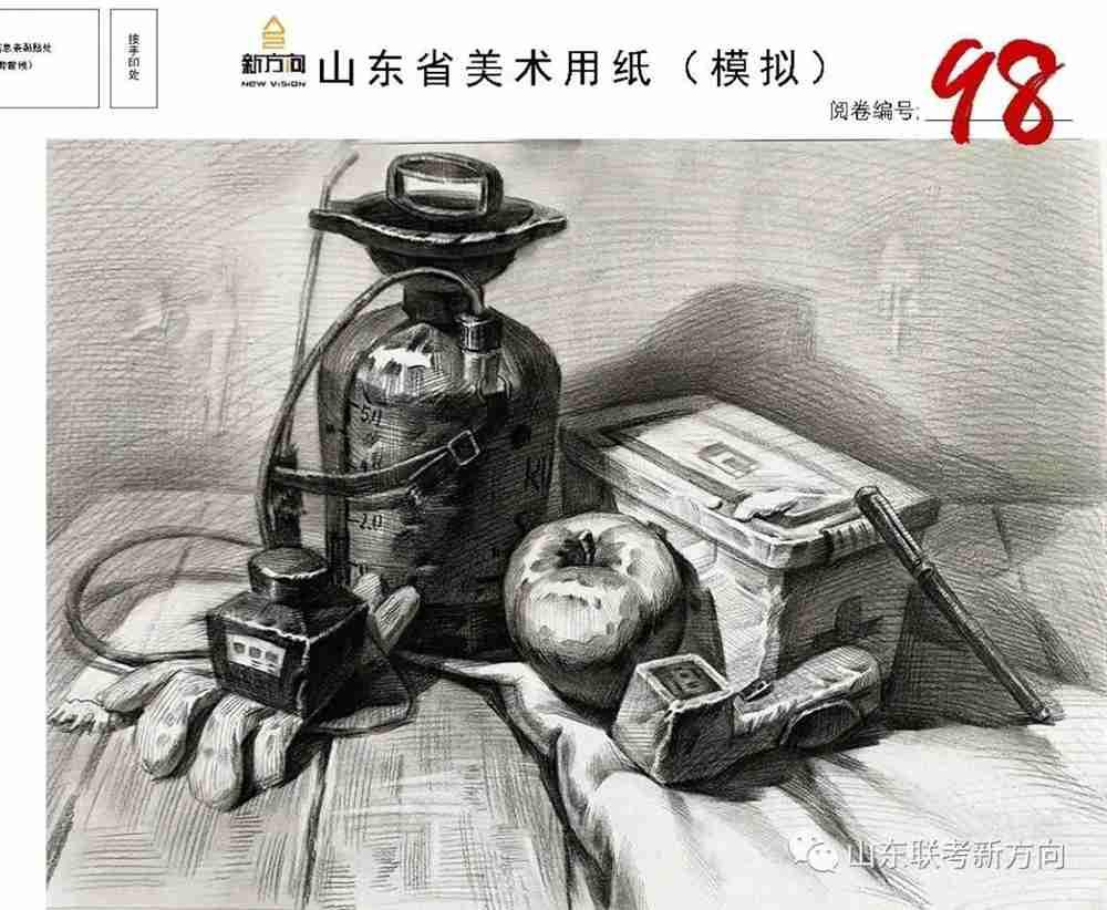 广州十大画室将各省一模素描卷放一起大pk,你找找都有哪些共同特征,43