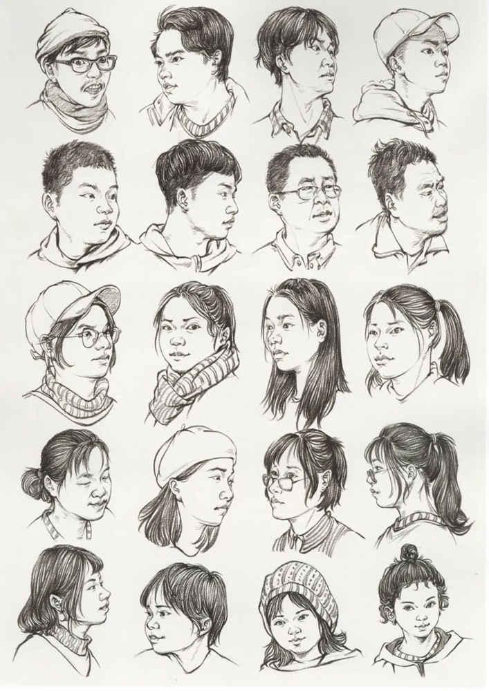 广州画室排名前五画室干货丨速写头发如何画,这份步骤大概最完整,04