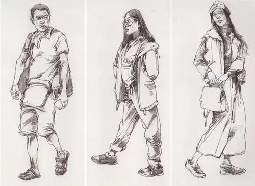 速写人物线条要怎么画好?广州画室考生要注意这几个技巧!